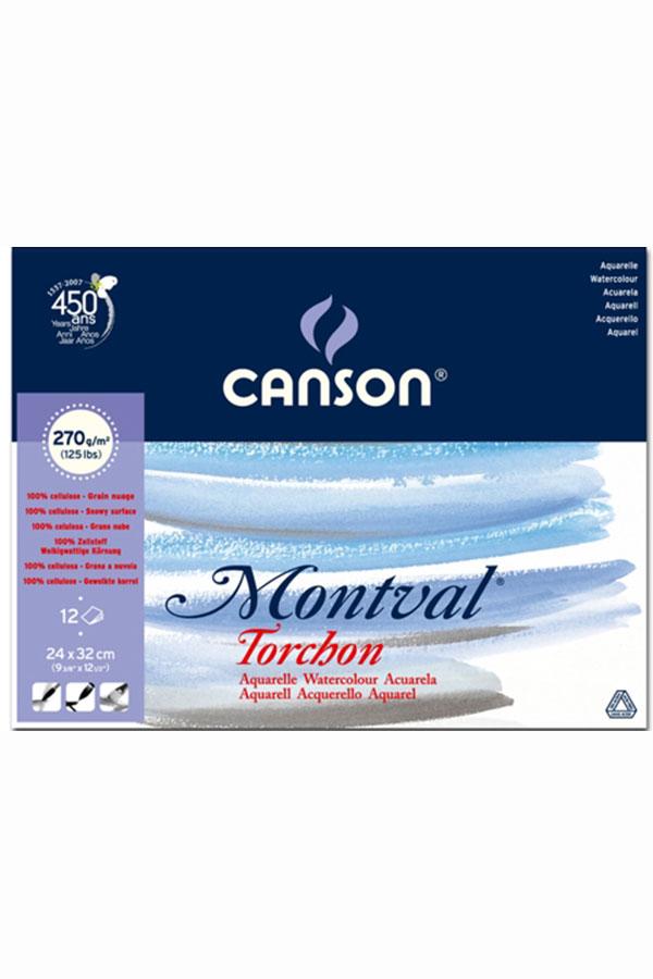 Μπλοκ ακουαρέλας 270gr 24x32cm 12 φύλλων CANSON Montval 807-324